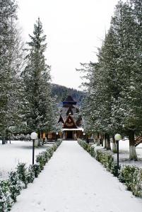 Колиба взимку